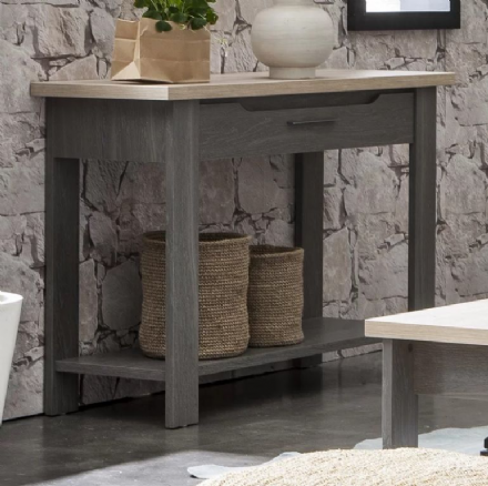 Grey Oak or White Ash Console Table